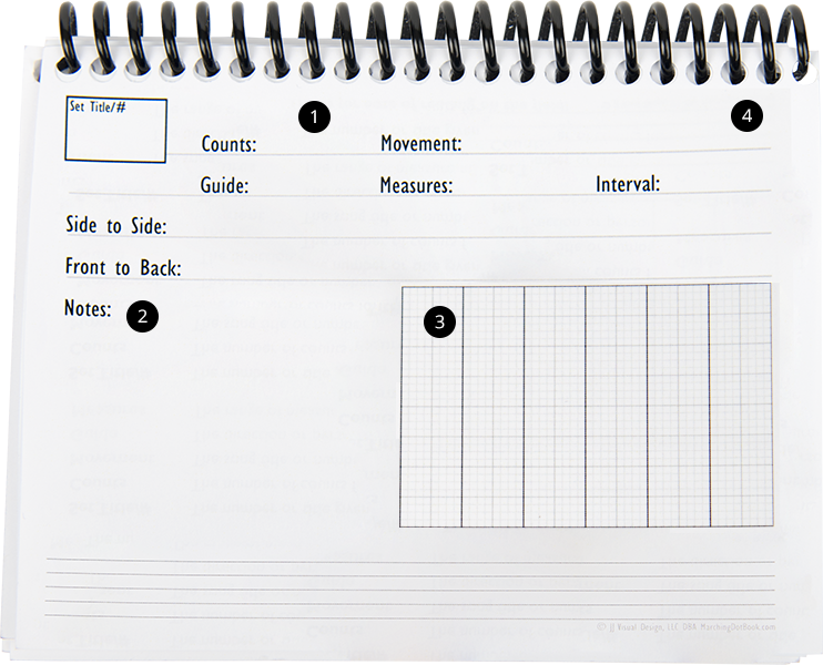 Marching Dot Book layout